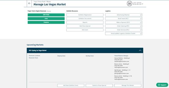 Las Vegas Market Exhibitor Portal