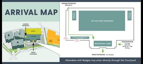 Las Vegas Market April Arrival Map